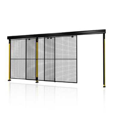Single sliding door with 2-step rail