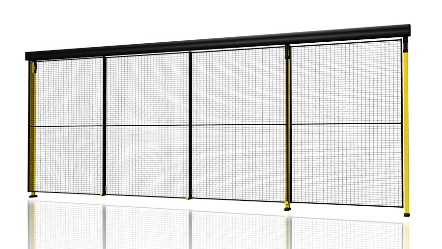 Single sliding door with 3-step rail
