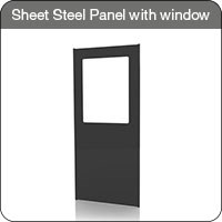 Axelent Ltd Sheet Steel Panel with window