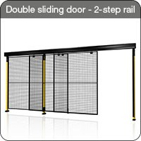 Axelent Ltd Double sliding door with 2-step rail