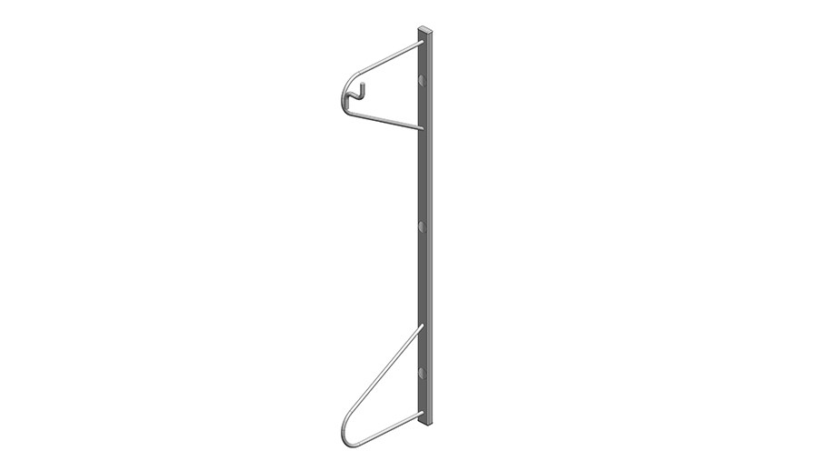 Single rack for wall mounting