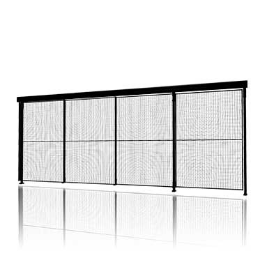 Tripple sliding door with 3-step rail